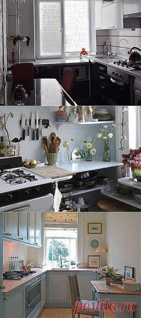Использование подокнника на кухне