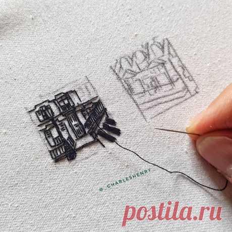 Вдохновение: архитектурная вышивка