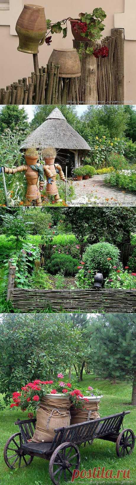Деревенский стиль в ландшафтном дизайне: идеи оформления участка.