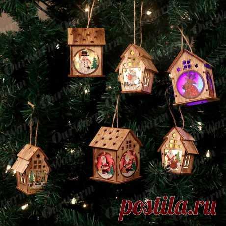 Домики-светильники для новогоднего декора для самостоятельной сборки  https://s.click.aliexpress.com/e/rSIUT9c4?product_id=..
