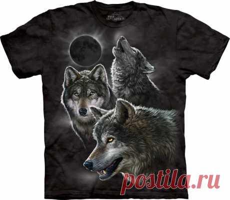 АРТ № 103398 Футболка The Mountain -  Eclipse Wolves Бесшовная футболка -варенка 100% хлопок Размеры Детские S, M, L,XL  +  Взрослые  S, M, L,XL, XXL, XXXL Рисунок нанесен красками на водной основе. Не выгорает, не тянется