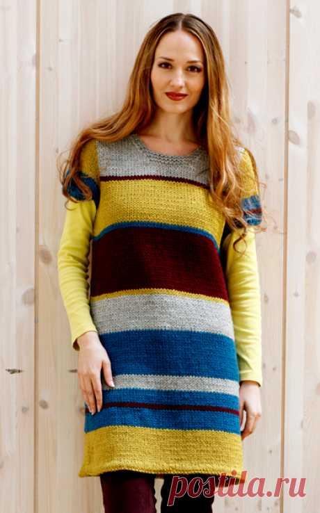 El vestido la túnica por los rayos en la raya ancha - el Portal de la costura y la moda