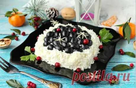 """Салат """"Первый снег"""": простое и быстрое угощение к праздничному столу - Odnaminyta - медиаплатформа МирТесен"""