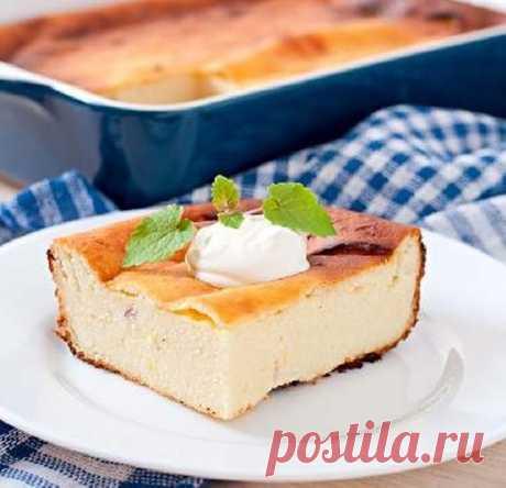 Пышная творожная запеканка — вкусная творожная запеканка в духовке фото   maggi.ru