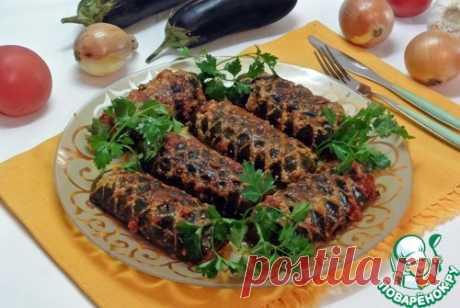 """Фаршированные баклажаны в соусе """"Шохона таом"""" – кулинарный рецепт"""