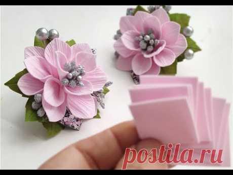 Ух ты 🌸 Как интересно получилось 🌸 Попробуйте сделать такие цветы из фоамирана