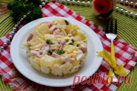 Салаты с ананасами и копченой курицей: рецепты, особенности приготовления - Onwomen.ru