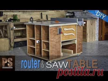 Домашняя пилорама и фрезерный стол