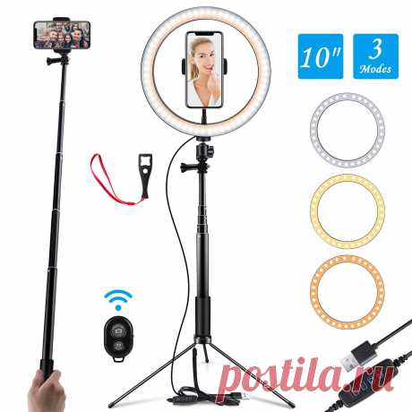 10 Inch Photo Led Selfie Ring Light Tripod LED Ring Light For Phone Youtube Video Camera Studio Make Up Lamp With USB-in Photographic Lighting from Consumer Electronics on AliExpress