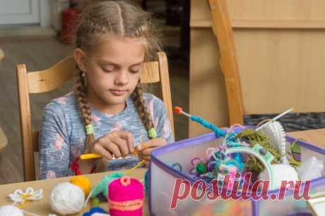 Как научить ребенка вязать | Рукоделие от А до Я | Яндекс Дзен