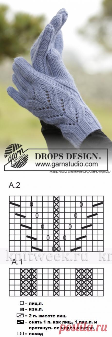 """Graceful """"Парижанка&quot gloves; - Parisien by DROPS Design."""