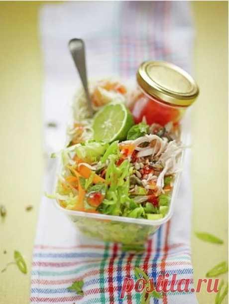 Салат с грудкой курицы | Рецепты Джейми Оливера