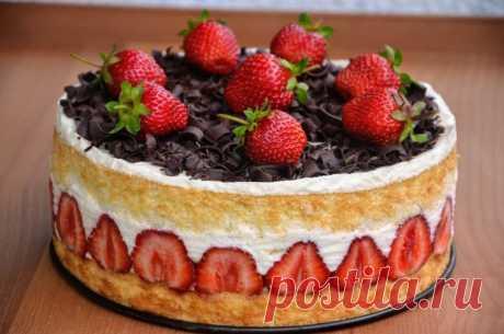 Торт «Фрезье» Безумно вкусный!