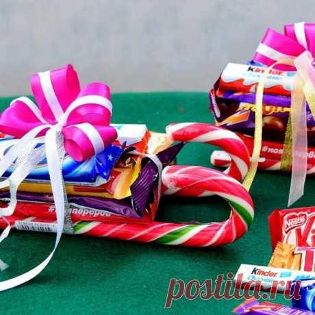 Новогодний букет из конфет: мастер-классы