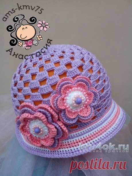 Панама – шляпка для девочки Дейзи. Работа Анастасии ams-kmv75