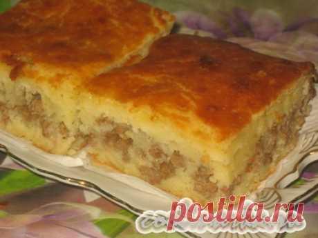 Pie meat on kefir