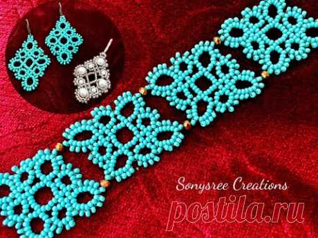 Bead Tatting Earrings or Bracelet || Seed Beads Earrings || How to make Beaded earrings
