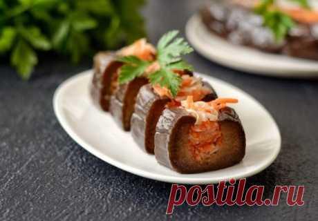 Фаршированные баклажаны с морковью и капустой — Sloosh – кулинарные рецепты