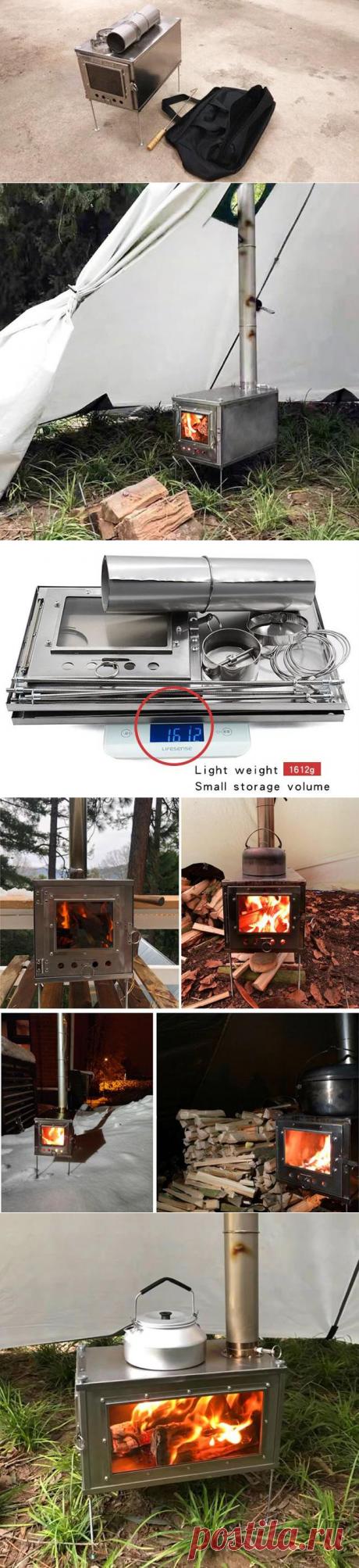 Складная походная дровяная мини-печь длительного горения с Алиэкспресс   Super-Blog