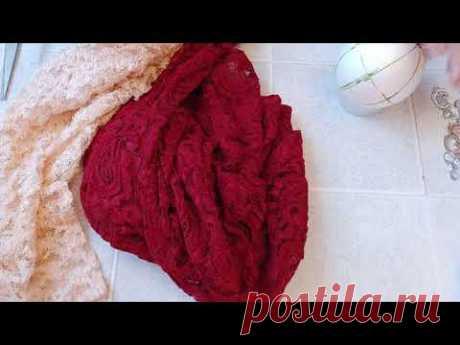 Как сделать новогодний шарик из ткани КИМЕКОМИ. Новогодний декор.