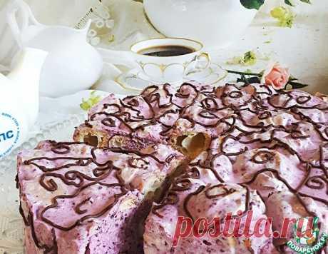 """Торт """"Дамские пальчики """"с черникой – кулинарный рецепт"""