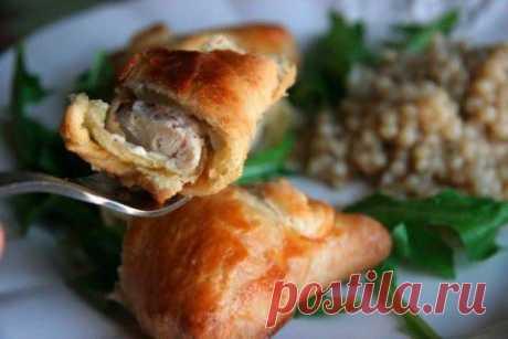 Пирожки с курицей и сливочным сыром   Банк кулинарных рецептов