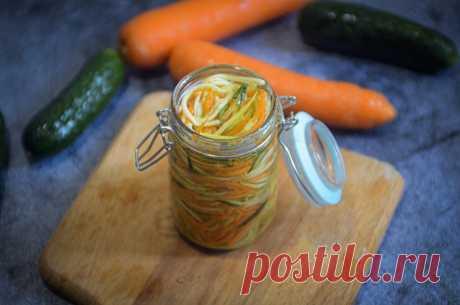 Салат из кабачка по-корейски: на закуску и на зиму | Рекомендательная система Пульс Mail.ru
