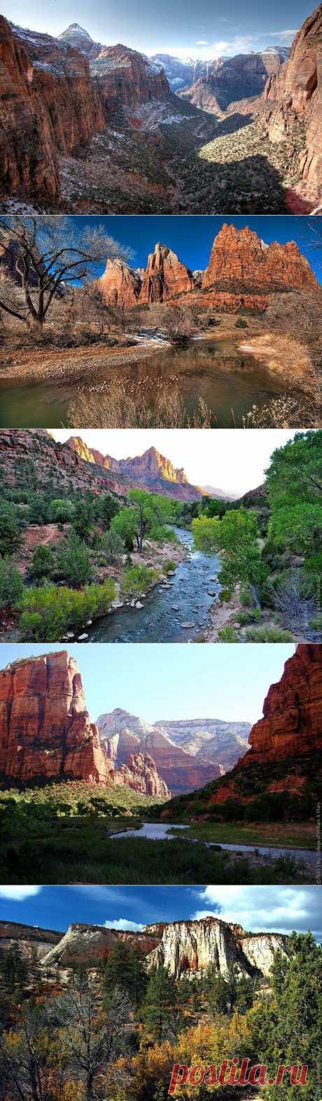 Сионский национальный парк, достопримечательности США