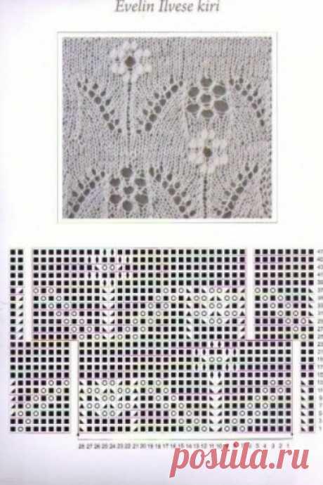 Узоры для вязания шарфов, шалей и палантинов. Часть третья.
