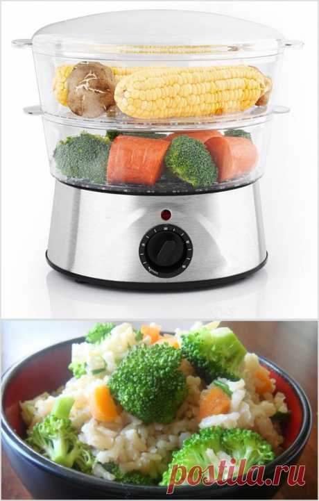 Переходим к паровой пище! Пароварка позволяет сохранить структуру овощей и фруктов, а также максимум их полезных микроэлементов. Если вам кажется, что пароварка ограничивает выбор блюд - неправда! Существует несколько сотен отличных рецептов, в том числе с мясом, рыбой, а также вегетарианские.