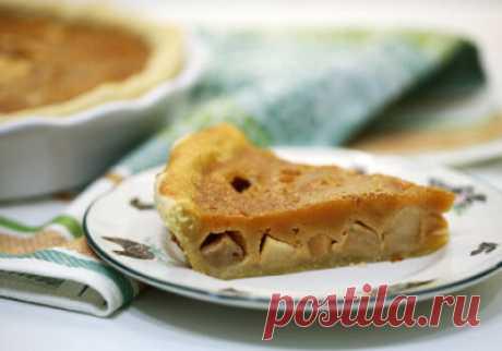 Яблочный пирог из рубленного слоеного теста с карамельной заливкой - Сладкие пироги и кексы