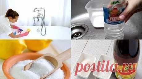 Простые и гениальные хитрости для уборки дома! Хозяюшкам на заметку! 1. Очищаем самые грязные предметы в ванной. Старая шторка для ванной будет выглядеть, как из магазина, если все грязные участки и даже места с желтизной и плесенью промыть раствором, состоящим в равных частях из перекиси водорода и воды. Чтобы очистить зубные щетки от микробов, замачиваем их на час в уксусе. Затем хорошо моем под проточной водой. Мочалки замачиваем на час в горячей воде и уксусе в пропорции 1:1. Затем хорошо…