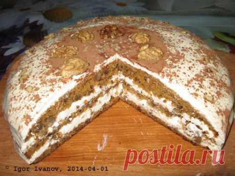 Морковный торт со сметанным кремом. Фоторецепт. | Мужик на кухне | Группы Мой Мир