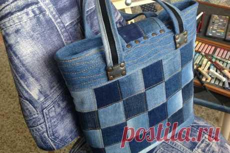 Идеальные джинсовые квадраты при небольшом швейном опыте | Подушкины секреты | Яндекс Дзен