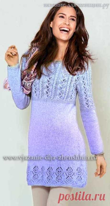Модные вязаные платья осень-зима 2017-2018 фото и схемы вязания