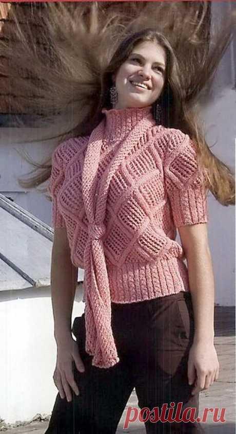 Джемпер спицами женский молодежный: 17 моделей со схемами вязания