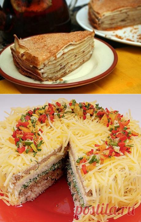 Блинный торт, рецепт торта из блинов с фото / Простые рецепты