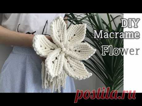 DIY Macrame Flower For Wedding / 마크라메 꽃