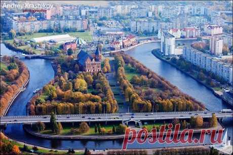 Приглашаем посмотреть на самый западный областной центр России, Калининград, с высоты птичьего полета. Шикарная панорама!