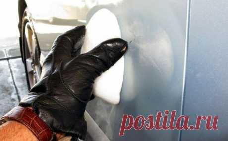 Как убрать вмятину на автомобиле при помощи сухого льда
