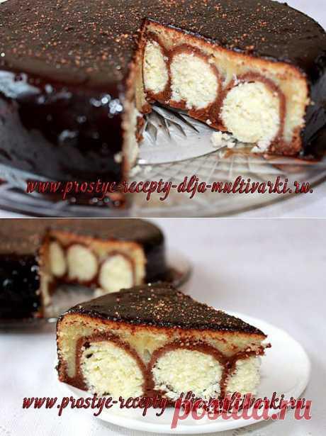 Пирог с творожными шариками | Простые рецепты для мультиварки