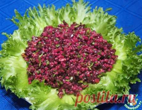 Салат из птитима со свеклой – кулинарный рецепт