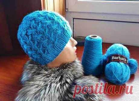 Удобная и теплая шапочка Фаленопсис от Светланы Заец | Вязание Шапок - Модные и Новые Модели