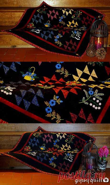 Gipsy Quilt. У меня не хватит фантазии сделать хотя бы одно такое одеяло! | Я люблю пэчворк | Яндекс Дзен