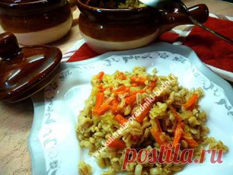 Tasty pearl-barley porridge
