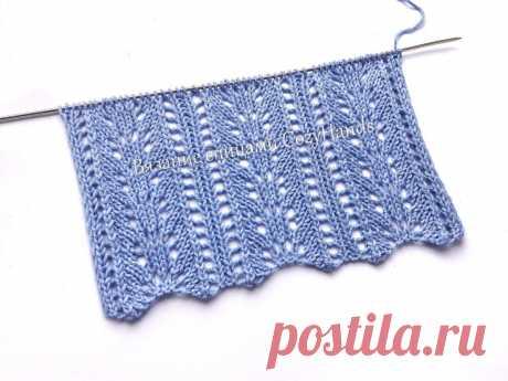 Легкий ажурный узор для вязания спицами французской кофточки и других изделий   Вязание спицами CozyHands   Яндекс Дзен