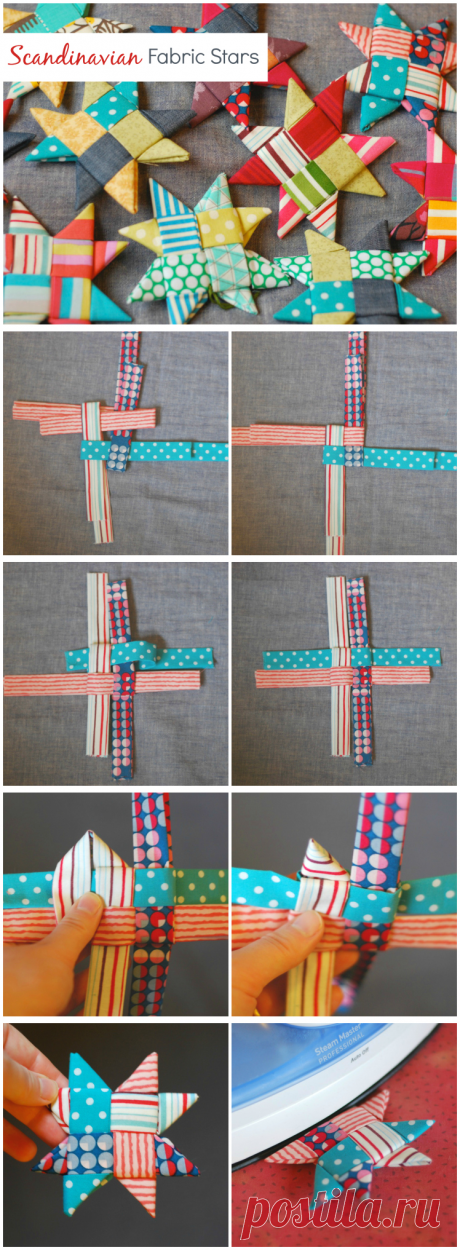 Scandinavian Fabric Stars – Crafting A Rainbow