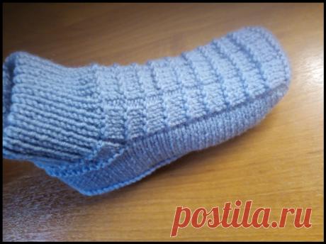 Тапочки-носочки спицами — HandMade