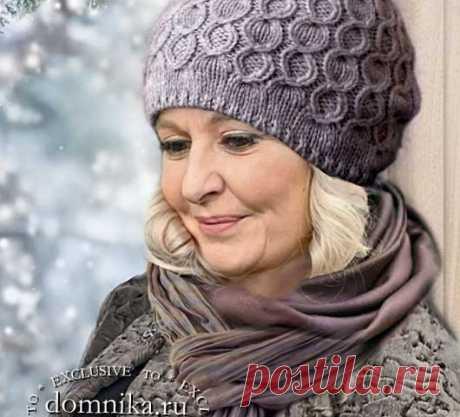 Вязаные шапки для женщин 60 лет - 4 модные модели на 2021 год