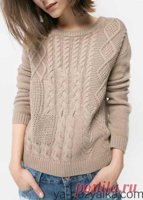 Вязаные джемпера для женщин спицами с описанием. Связать красивый женский свитер спицами